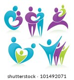 vector set of people  family... | Shutterstock .eps vector #101492071