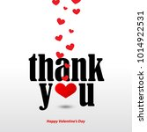 thank you message with hearts... | Shutterstock .eps vector #1014922531