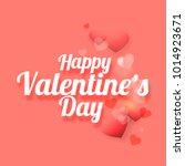 illustration of valentines day... | Shutterstock .eps vector #1014923671