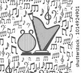 grey grunge music background... | Shutterstock .eps vector #1014924901