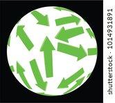 green arow in decorative ball ... | Shutterstock .eps vector #1014931891
