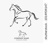 horse lo design illustration ... | Shutterstock .eps vector #1014934147