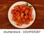 sliced radish kimchi | Shutterstock . vector #1014935287