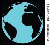earth  in globe  vector | Shutterstock .eps vector #1014935461