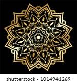 gold vector mandala | Shutterstock .eps vector #1014941269