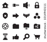 solid black vector icon set  ... | Shutterstock .eps vector #1014943111