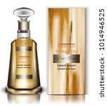 bourbon bottle vector realistic.... | Shutterstock .eps vector #1014946525
