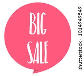 big sale tag. red color ... | Shutterstock .eps vector #1014949549