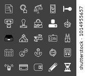 set of sign document  double... | Shutterstock .eps vector #1014955657