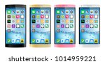 4 colors smartphones  mobile...