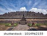 borobudur tample view | Shutterstock . vector #1014962155