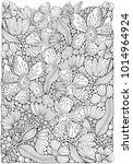 adult coloring book page with... | Shutterstock .eps vector #1014964924