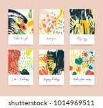 collection of greeting card or... | Shutterstock .eps vector #1014969511