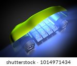 3d rendering  electric vehicle... | Shutterstock . vector #1014971434
