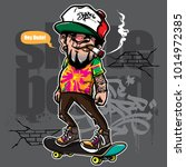 hand drawing style of hipster...   Shutterstock .eps vector #1014972385