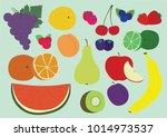 healthy fruit set of... | Shutterstock .eps vector #1014973537