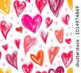 hearts love vector seamless...   Shutterstock .eps vector #1014974869