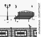 vector illustration the park...   Shutterstock .eps vector #1014975637