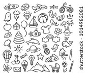 cute hand drawn doodle... | Shutterstock .eps vector #1014982081
