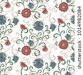 floral rapport for wallpaper or ... | Shutterstock .eps vector #1014982084