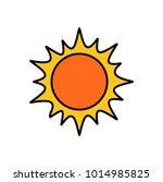 orange bright sun with yellow
