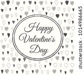 happy valentines day greeting... | Shutterstock .eps vector #1014986665