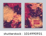 set of covers with grunge... | Shutterstock .eps vector #1014990931