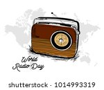 world radio day | Shutterstock .eps vector #1014993319