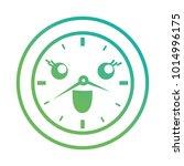 kawaii clock icon | Shutterstock .eps vector #1014996175