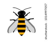 large flat flying bee. image... | Shutterstock .eps vector #1014997057