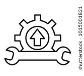 wrench and gear icon  a symbol...
