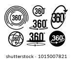 set of 360 degrees view related ... | Shutterstock .eps vector #1015007821