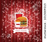 fast food poster with red... | Shutterstock .eps vector #1015009315
