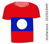 t shirt flag laos on white...   Shutterstock .eps vector #1015013449