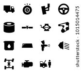 origami style icon set   car... | Shutterstock .eps vector #1015014475