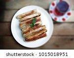 sigara boregi 'cigarette borek' ... | Shutterstock . vector #1015018951