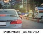 white large luxury sedan car... | Shutterstock . vector #1015019965