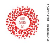 happy canada day label  logo ... | Shutterstock .eps vector #1015022971