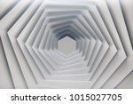 rotation of pure white hexagons ...   Shutterstock . vector #1015027705