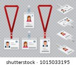 set of employees identification ... | Shutterstock .eps vector #1015033195