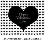 valentines day greeting card ... | Shutterstock . vector #1015033567