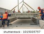 construction worker in stall...   Shutterstock . vector #1015035757