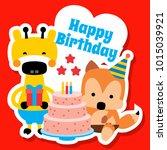 happy birthday background   Shutterstock .eps vector #1015039921