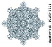 vector mandala pattern of henna ...   Shutterstock .eps vector #1015045321
