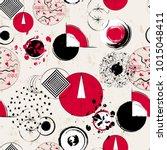 seamless geometric pattern... | Shutterstock .eps vector #1015048411