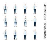 businessman character in... | Shutterstock .eps vector #1015053034
