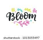 spring modern calligraphy.... | Shutterstock .eps vector #1015055497