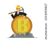 bitcoin and blockchain... | Shutterstock .eps vector #1015055827