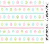 easter seamless vector pattern. ... | Shutterstock .eps vector #1015056457