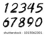 set of grunge numbers.vector... | Shutterstock .eps vector #1015062301